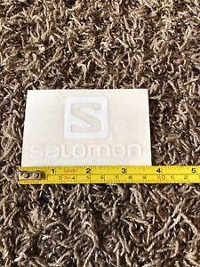 "Salomon Logo Snowboard White Sticker Decal Ski Skiing Boots Outdoor Approx 3.75"""