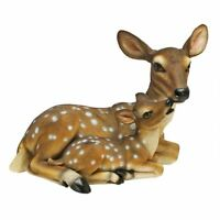 Mothers Love Doe And Fawn Sculpture Design Toscano Exclusive Hand Painted Statue