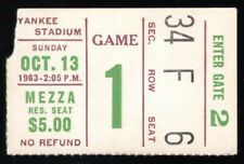 Oct 3, 1963 New York Giants Vs Cleveland Browns Ticket Stub Jim Brown 123 YD 3TD