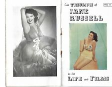 vintage JANE RUSSELL magazine 'Her Life and FILMS' 32 pages