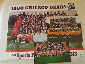 Vintage Chicago Bears Promo Poster Photo 1980 1981 1983 Ditka Payton Lot 3 Diff
