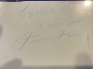 Autographed paper with M OTT, C MACK and JIMMIE FOX
