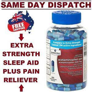 Members.M Sleep Aid + Pain Relief Night Formula 375 Caps EXTRA STRENGTH AU STOCK