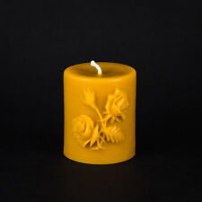 "Pure Beeswax - Small Rose Pillar Candle (3""x4"")"