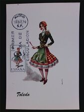 SPAIN MK 1970 TRAJES TOLEDO TRACHT COSTUME MAXIMUMKARTE MAXIMUM CARD MC CM c6095
