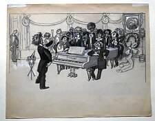 Franz Liszt - Karikatur - Zeichnung um 1900 - Musik - Komponist