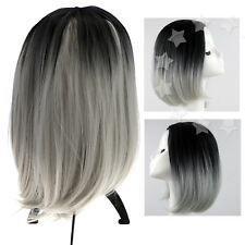 Women Ladies Natural Short Straight Hair Wigs Bob Style for Cosplay Parties De