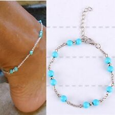Silver Plated Anklet Bracelet Foot Chain Beach Bead Sandal Barefoot Sexy Jewelry