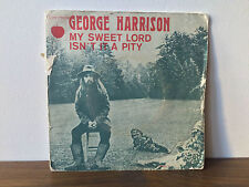 George Harrison vinyle 45 tours vinyl 45 rpm my sweet lord the beatles apple