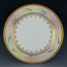 "Lenox China Vintage Fish Plate 9"" Early Hand-Painted C12 Gold Encrusted Border"