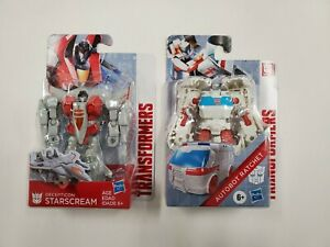 Lot of 2 NIP Transformers Autobot Ratchet & Decepticon Starscream New Sealed