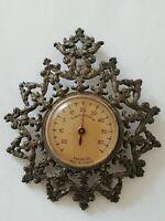 Ancien thermomètre MANUPILOTE en métal ajourée