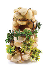 Sandstone Rock Column with Artificial Plants BiOrb Ornament Aquarium Decoration