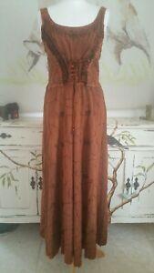 Boho Hippy Peasant Wicca Maxi Dress