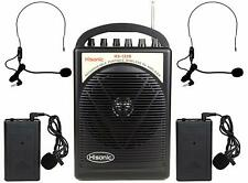 Used Hisonic HS122B-LL Portable Rechargeable PA System with Dual Microphone