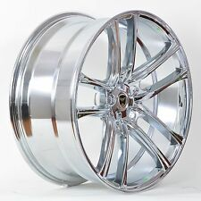 4 GWG Wheels 18 inch Chrome ZERO Rims fits 5X114.3 ET40 LINCOLN MKZ 2007 - 2012