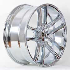 4 GWG Wheels 18 inch Chrome ZERO Rims fits 5X112 ET40 MERCEDES S350 (221) 2012