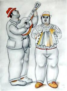FERNANDO BOTERO / Amazing Charcoal & Pastel on Paper, Drawing Signed & Dated.
