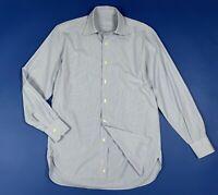 Piombo shirt camicia uomo usato used M 39 a righe azzurro manica lunga T6090