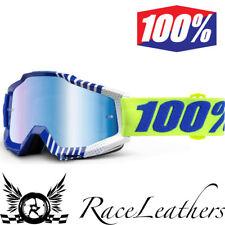 100% PORCENTAJE ACCURI Sundance Motocross motos Goggles CON LENTE AZUL ESPEJO