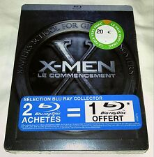 New X-Men First Class Blu-ray/DVD Steelbook + Collectible Photo Book French