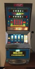 BALLY DELUXE 4 REEL PROGRESSIVE CONTINENTAL 5 CENT NICKEL SLOT MACHINE EXCELLENT