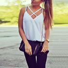 informal mujer camiseta de tirantes sin mangas blusa Verano