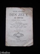 BONNEVEINE Nouvel Almanach des Jeux de Cartes 1866 Calendrier /Billard Echec etc