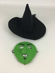 Build A Bear Workshop Wicked Witch Costume Green Mask Hat Halloween Clothes BABW