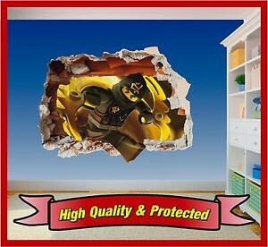 Lego Ninjago Cole Hole in Wall - Printed Vinyl Sticker Decal Childrens Bedroom
