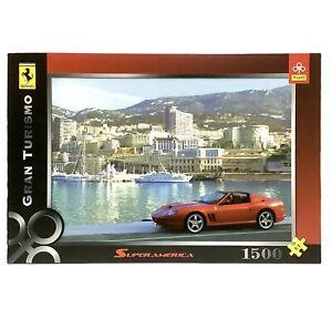 Trefl Ferrari Jigsaw Puzzle 1500 Pcs - Gran Turismo Pieces New Sealed - Box Wear