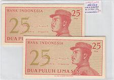 LOTE DE 10 BILLETES DE 25  SEN  INDONESIA ( SC )  ( MB3567 )