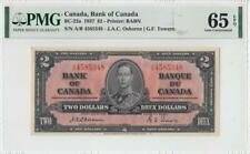"1937 BANK OF CANADA KGVI $2 **Osborne & Towers** ""A/B"" (( PMG 65 EPQ ))"