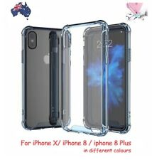 Shockproof Hard Acrylic iPhone X 8 8 Plus Gel Crystal Clear Case Cover For Apple