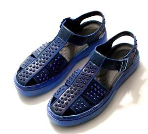 Summer Mens Real Leather Rivet Slingbacks Sandals Shoes Closed Toe Buckle Runway