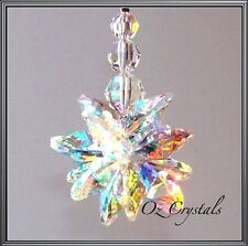 Large Crystal AB Star Cluster Suncatcher made with Swarovski