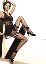 Bas nylon autofixant femme sexy fantaisie jarretière 4 bandes GATTA MICHELLE 02