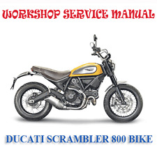 DUCATI SCRAMBLER 800 BIKE 2014+ WORKSHOP SERVICE REPAIR MANUAL (DIGITAL e-COPY)