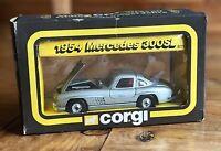 CORGI 811 1954 MERCEDES 300SL SILVER Die Cast Car Gull Wing Doors