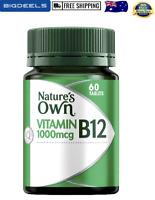 High Strength Vitamin B12 1000mcg - Supports Nervous System 60 tablets