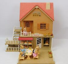 Sylvanian Families Village Bakery With Copper Beech Cottage And 8 Figures Bundle
