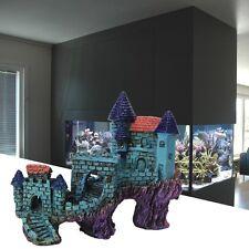 Resin Great Wall Villas Castle Aquarium Ornament Fish Tank Decoration Cave New