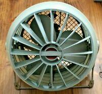 Westinghouse Riviera Vintage Electric Floor/Table Fan R-2020 2 Speed Blue