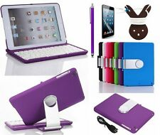360 Swivel Bluetooth Keyboard Smart Case Book Cover For ipad mini 2 3 1 Hot Sale