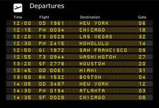 Airport Departures Reproduction Board, Metal Stag Or Hen Gift Fun Sign
