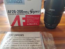 Tamron AF 28-200 mm f/3.8-5.6 aspherical LD IF Objectif Nikon