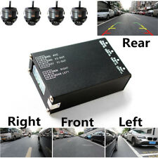 Full Car Parking View System Side Rear Camera Kit 4-CH Picture Divider Splitter