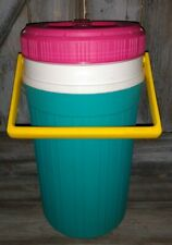 New listing Vintage igloo 1/2 Half Gallon Water Jug Cooler Pink, Yellow, Teal great cond.
