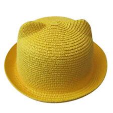 infantil niño niña sombrero de Paja Verano Playa Sol Jungla Tapa TRANSPIRABLE