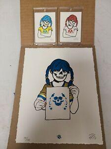 """Zoltron """"Sue Nami: Rorschach"""" Hot Foil Letterpress Print + 2 Mini Prints"""